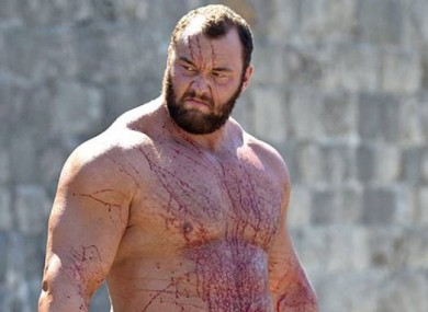 Hafthor Bjornsson in his role as Gregor Clegane - 'The Mountain' in Game of Thrones.