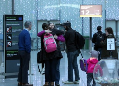 Emigration - emotional scenes at Dublin Airport in January