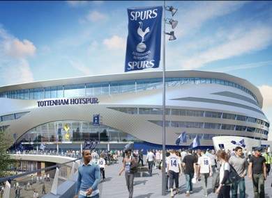 Tottenham hope to build a 56,000-seater stadium at the cost of £400million.