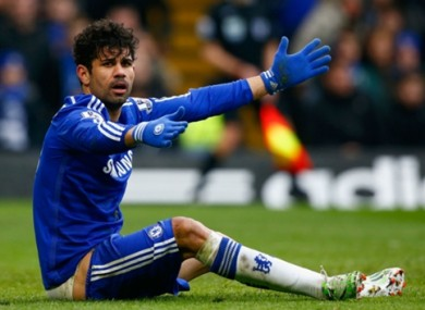 Costa has scored 20 goals this season for Chelsea, while drawing criticism for his abrasive style.