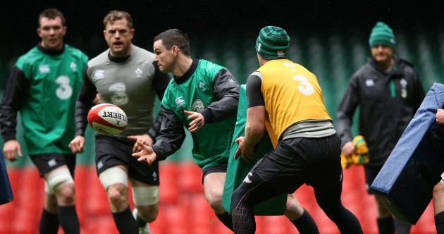 11 images as Ireland finalise preparations at the Captain's Run in the Millennium Stadium