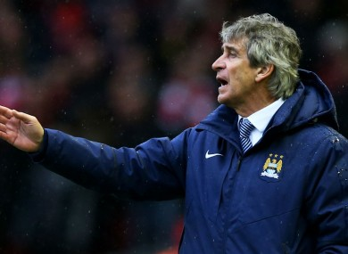 Manchester City manager Manuel Pellegrini insists his job is save.