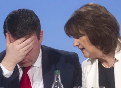 Labour deputy leader Alan Kelly and leader Joan Burton