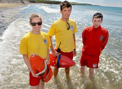 Lifeguards on Garrettstown Beach in Cork.