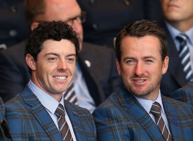 Rory McIlroy and Graeme McDowell.