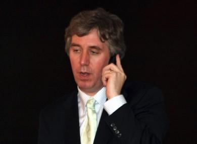 John Delaney on the phone (File photo)