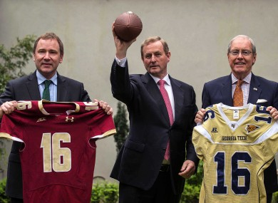We don't think Enda Kenny has a future as a quarterback.
