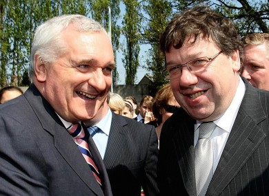 Bertie Ahern and Brian Cowen