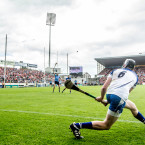 Waterford's Austin Gleeson sends a sideline cut straight between the posts during last Sunday's All-Ireland hurling quarter final win against Dublin.