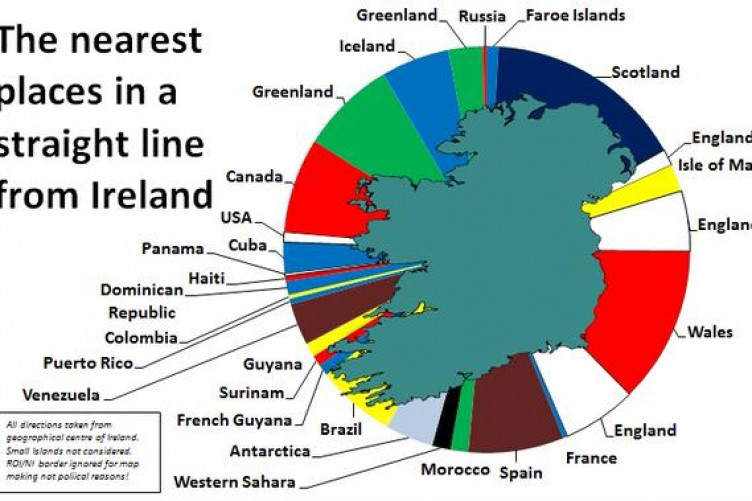 Country Of Ireland Map.This Cool Graph Illustrates Ireland S Closest Neighbours