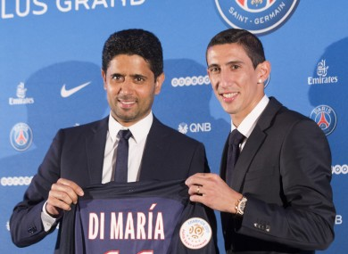 Angel di Maria thanked Man United fans after leaving to join PSG.