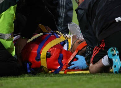 The game was stopped for 15 minutes while Saili received treatment.