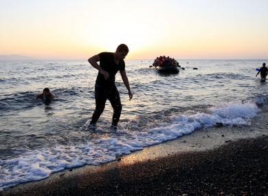 Migrants arriving on the island of Kos in Greece earlier this week