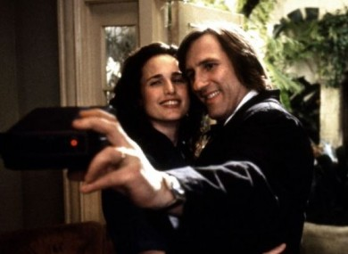 Gerard Depardieu and Andie MacDowell in marriage-of-convenience comedy 'Green Card'.