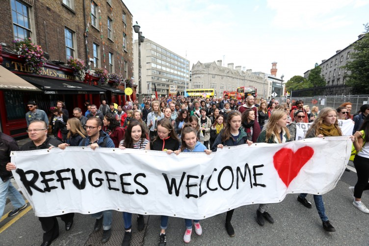 Image result for migrants welcome in austria