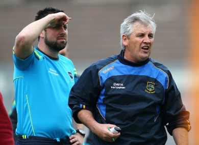 Tipperary minor football manager Charlie McGeever.
