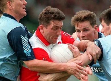 Barton in action against Dublin in the 1993 semi-final.