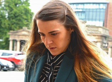 Gayle Newland arriving at Chester Crown Court.