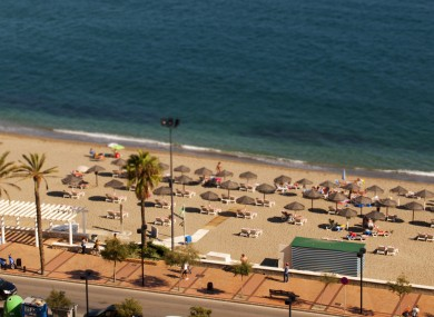 A beach at Fuengirola on the Costa Del Sol