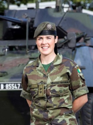 Sinéad Hunt joined the Defence Forces, like her father and grandfather before her, through its officer cadetship training programme.