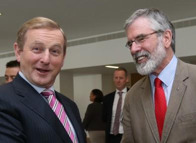 Enda Kenny and Gerry Adams in happier times