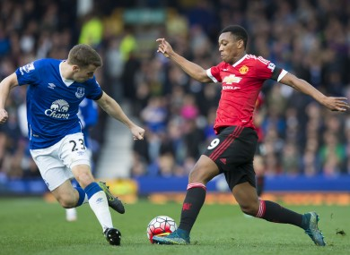 Seamus Coleman had a torrid time up against Anthony Martial on Saturday.