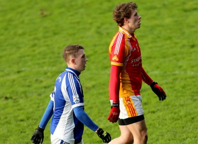Brothers Tommy and Eoghan O'Reilly (seen here during the 2013 decider) will square off again in the 2015 Mayo SFC final.