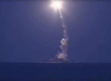 A Russian warship launched missiles earlier today