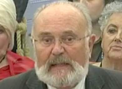 David Norris speaking in the Seanad this evening