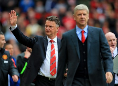 Louis Van Gaal will be the happier of the two on recent form.