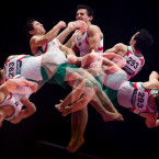 Mexico's Fabian DeLuna in action at the World Gymnastic Championships.<span class=