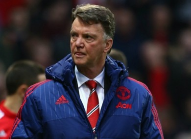Under pressure: LVG admits he fears the sack.