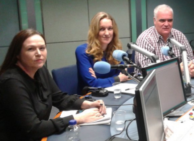 Louise O'Reilly, far left, with the rest of the panel this morning.