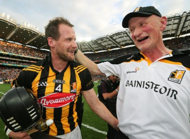 Winners alright: Tyrrell collected his ninth All-Ireland medal under Brian Cody in September.