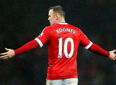 Rooney has scored two Premier League goals this season.