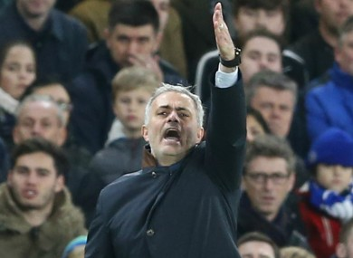 Chelsea manager Jose Mourinho has looked a frustrated figure for much of this campaign.