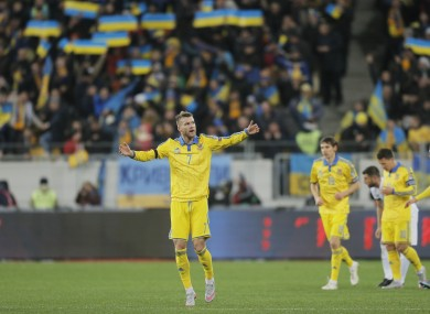 Ukraine's Andriy Yarmolenko