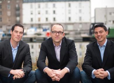 Boxever's co-founders (L-R), Dermot O'Connor, Dave O'Flanagan and Alan Giles