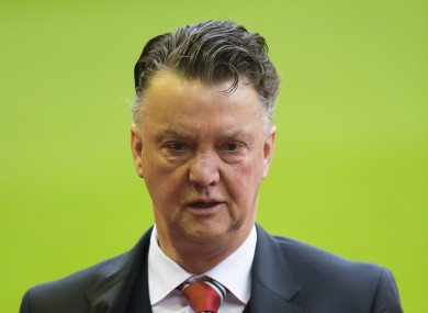 Van Gaal's team have come under fire for their performances recently.