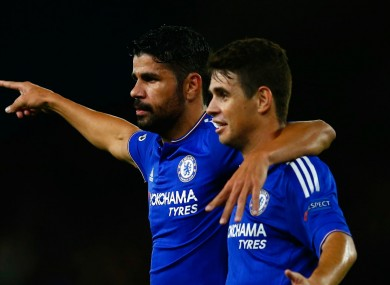 Costa and Oscar had a brief falling out during training.