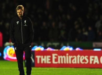 Liverpool manager Jurgen Klopp pictured last night.