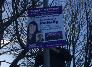 McNally's posters being erected in the Dublin Mid-West constituency earlier this month