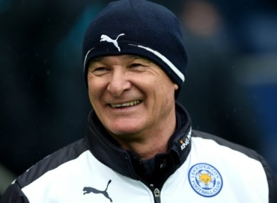 Ranieri has guided Leicester to the top of the Premier League.