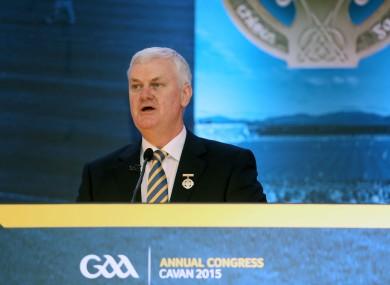 GAA president Aodhan O Fearghail.