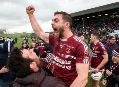 Antrim's Neil McManus was a happy man in Navan today.
