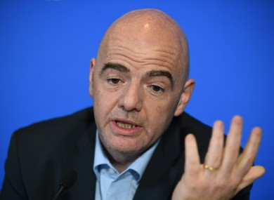 Fifa president Gianni Infantino wants the governing body to be compensated for the bribery scandal that rocked world football.
