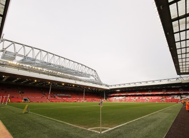 Anfield will be used for rugby league.