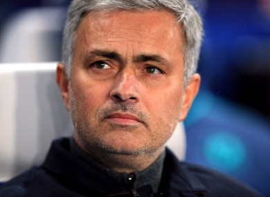 Mourinho has been continually linked with the Man United job of late.