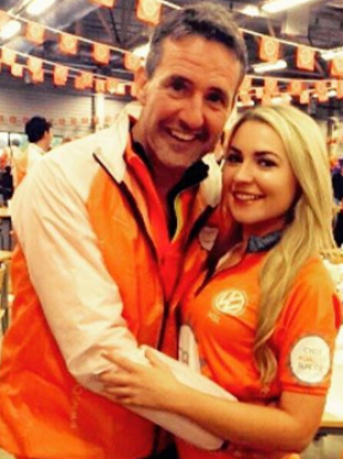 Judy with Cycle Against Suicide Director, Jim Breen.