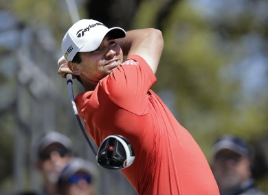 Jason Day after his 15-step swing routine.
